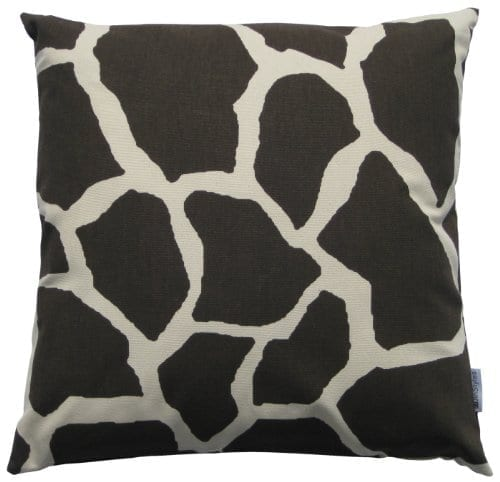 Throw Pillow Inserts 16 X 16 : JinStyles Cotton Canvas Giraffe Print Accent Decorative Throw Pillow Cover (Dark Brown & Beige ...