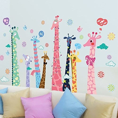 TOTOMO Giraffe Family Animal Wall Decals Stickers For Nursery ... Part 60