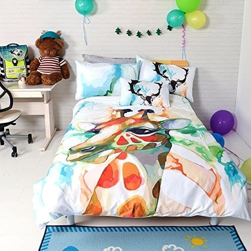grey pillowcases kids covers dp comforter twin duvet sets amazon ac cover bedroom com cotton stars bulutu pointed five reversible