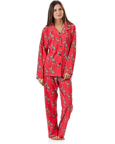 926f796933d BHPJ By Bedhead Pajamas Women's Long Sleeve Classic Pajama Set – Coral  Chelsea Giraffe – Small