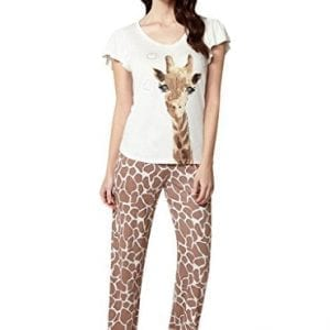 c451d606ca BouxAvenue Women s Giraffe Pyjama Set 12 Ivory Mix