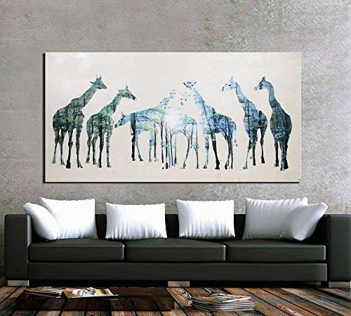 Artland hand painted framed canvas artwork 24x48 inch for What kind of paint to use on kitchen cabinets for living room wall art stickers