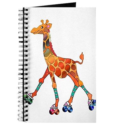 Spiral Notebook With Durable Print Spiral Giraffes Notebook